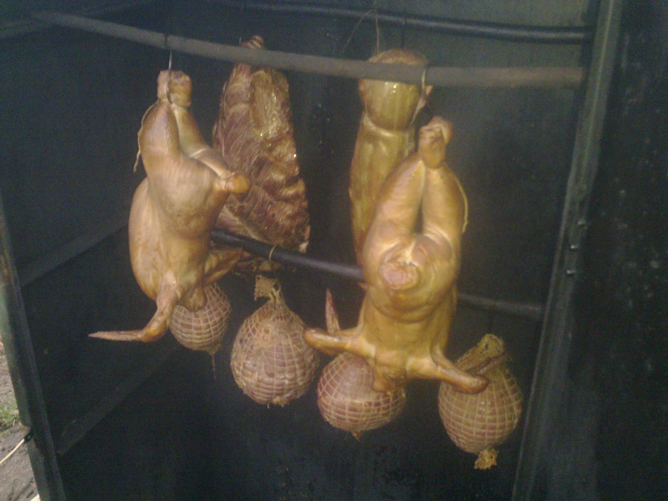 wędzone kurczaki