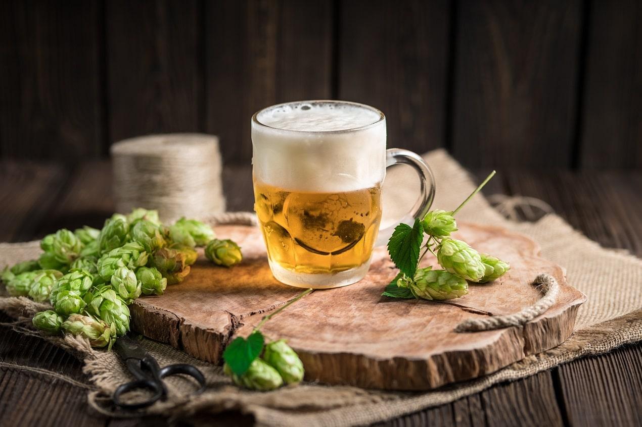 piwo na desce domowej roboty